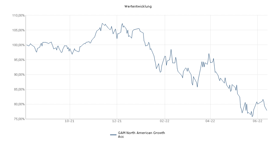 GAM North American Growth acc. Performance